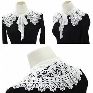 Women False Collar Lace Collar Detachable Lapel Choker Necklace Shirt Cloak Fake