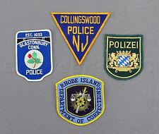 New England Jersey Connecticut Rhode Island Polizei Police Patches - Lot of 4