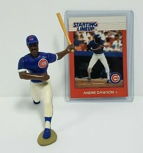 ANDRE DAWSON - Chicago Cubs - MLB Kenner Starting Lineup SLU 1988 Figure & Card