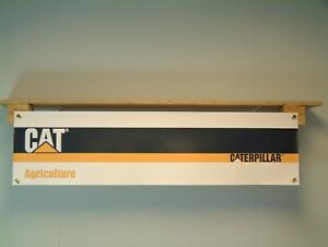Caterpillar-agriculture-Banniere-atelier-Tracteur-Cabanon-signe-cat-35-CHALLENGER-MT