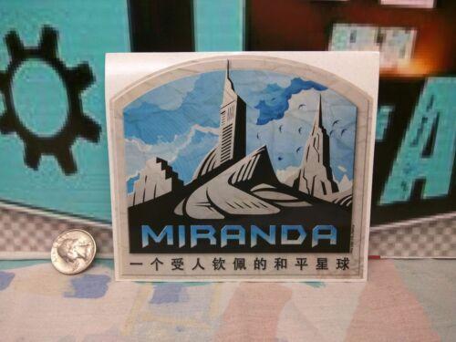 "05//17 Firefly Cargo Crate 5/"" x 4.25/"" MIRANDA TRAVEL STICKER"