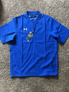 UNDER ARMOUR Mens Storm Triumph Short Sleeve Cage Jacket Baseball Polo Shirt