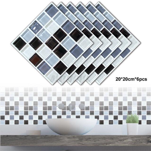 10pc Kitchen Tile Stickers Bathroom Mosaic Sticker Selfadhesive Home Wall Decor