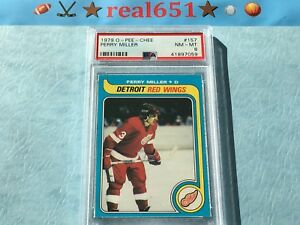 1979-O-Pee-Chee-157-PERRY-MILLER-PSA-8-NM-MT-Detroit-Red-Wings-Nice-OPC