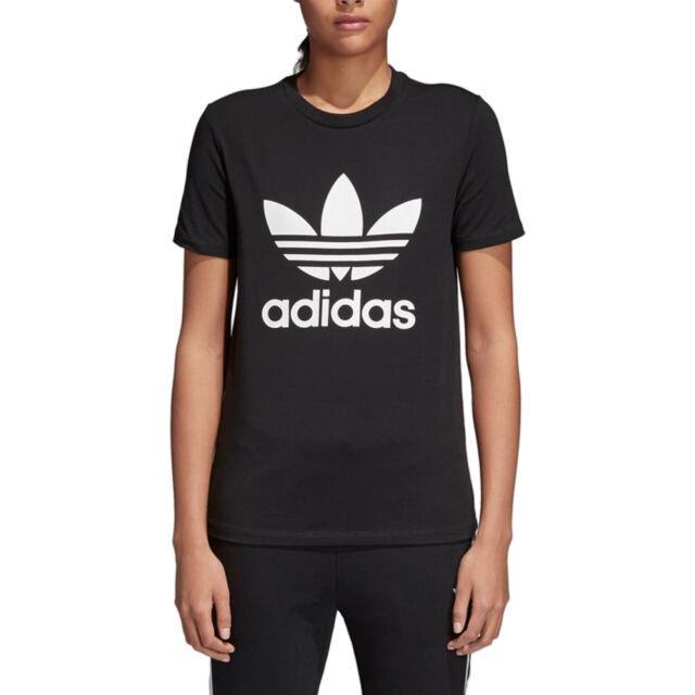 Adidas Originals T Shirt Trefoil Nera Donna Codice CV9888 9W