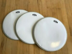 """Lot of 2 Remo 14/"""" White Max KS-2614-00 Marching Drum Heads"""