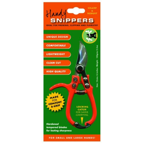 Orange GlosStock GDN-SNIP Handy Garden Snipper Secateur Cutter