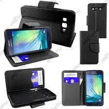Housse Etui Coque Portefeuille Simili Cuir Noir Samsung Galaxy A3 SM-A300F