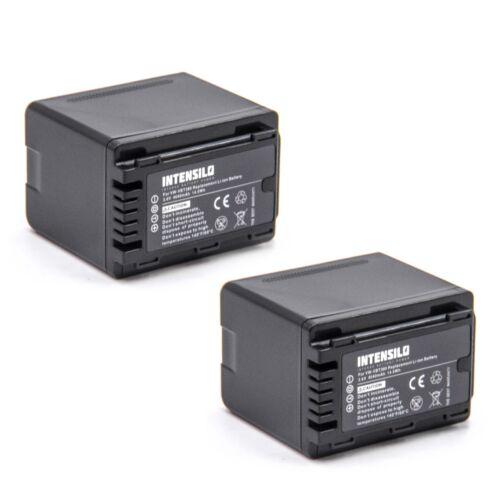 2x INTENSILO Batería 4040mAh para PANASONIC HC-VX870 HC-W570