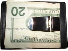 Leather Money Clip, Credit card/ID holder, wallet with a metal money clip BNWT