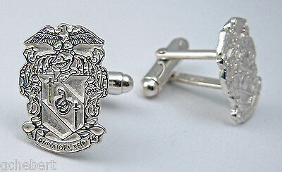 Theta Chi, ΘΧ, Crest Cufflinks In .925 Sterling Silver By McCartney