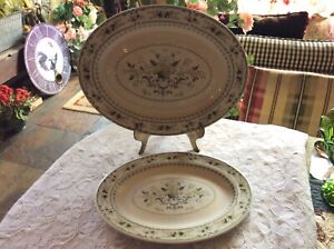 2-Royal-Doulton-PROVENCAL-Platters-Set-Of-2-13-1-4-034-And-16-034-Made-In-England