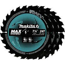 Makita B 61656 3 3pack 7 14 In 24t Carbide Tipped Max Circular Saw Blade New