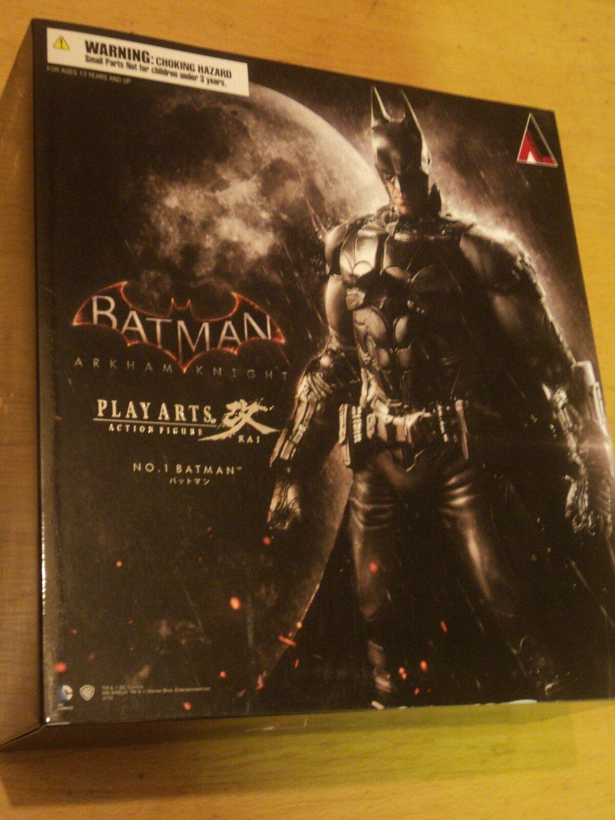 BATMAN ARKHAM KNIGHT  BATMAN PLAY ARTS KAI FIGURE - NEW AND SEALED