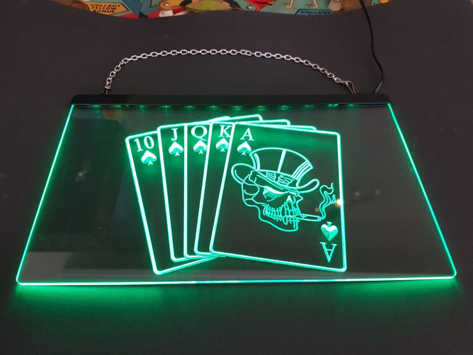 Poker Led Sign - Green