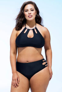 5ade2ccb4 ASHLEY GRAHAM® Plus Size 18, 20 Actriz 2-Pc. Bikini w/ Pave Crystals ...