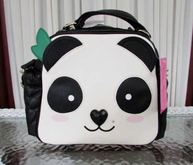 Betsey Johnson Insulated Dome Lunch Tote Panda Face