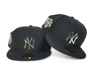 e060255332fa9 New Era Black 2000 World Series New York Yankees Silver Metal Badge ...