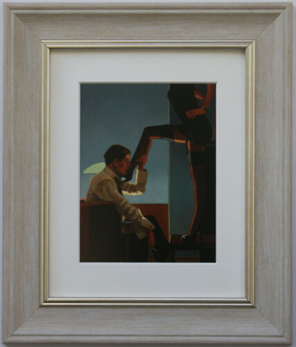 Night Calls II by Jack Vettriano Framed /& Mounted Art Print Grey
