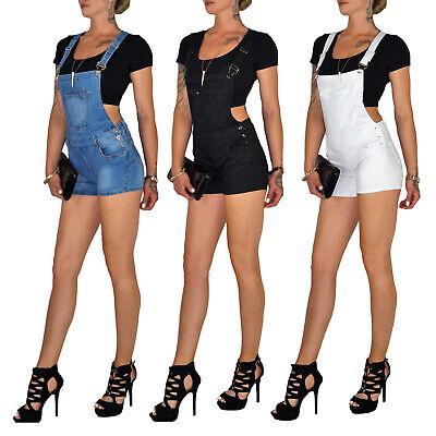 Damen Sommer Strand Stretch Jeans Jumpsuit Overall Latz Shorts Hose E220 Zu Den Ersten äHnlichen Produkten ZäHlen