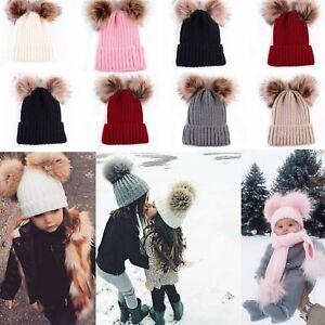 Toddler Kids Infant Baby Boy Girl Winter Warm Crochet Knit Hat Beanie Ski Caps