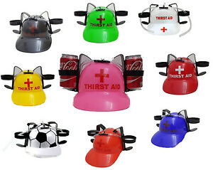 Thirst Aid Beer Drinking Helmet Can Holder Hat Game Drink Soda Hen Party Stag Do