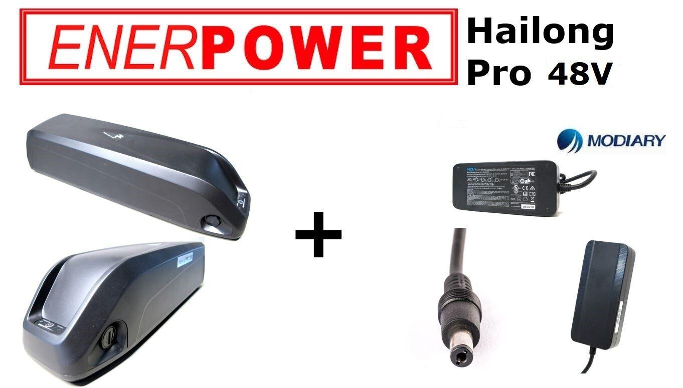 ENERPOWER Hailong Pro 48v quadro Liion Batteria 13,8ah trasformazione DIY 35e  Caricabatteria 2a
