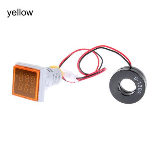 0-100A LED  Digital Voltmeter Ammeter  Voltage Gauge Dual Display Current Meter