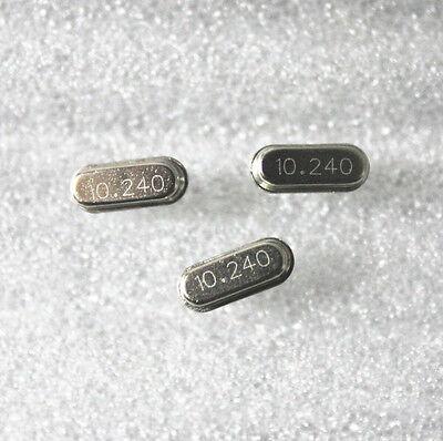 10pcs Good HC-49S10.24MHz 10.24M Hz Crystal Oscillator HC-49S