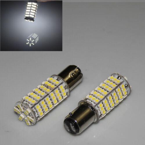 White 1157 BAY15D Dual 120 3528 SMD LED Brake Tail Fog Head Light Bulb 1210 12V