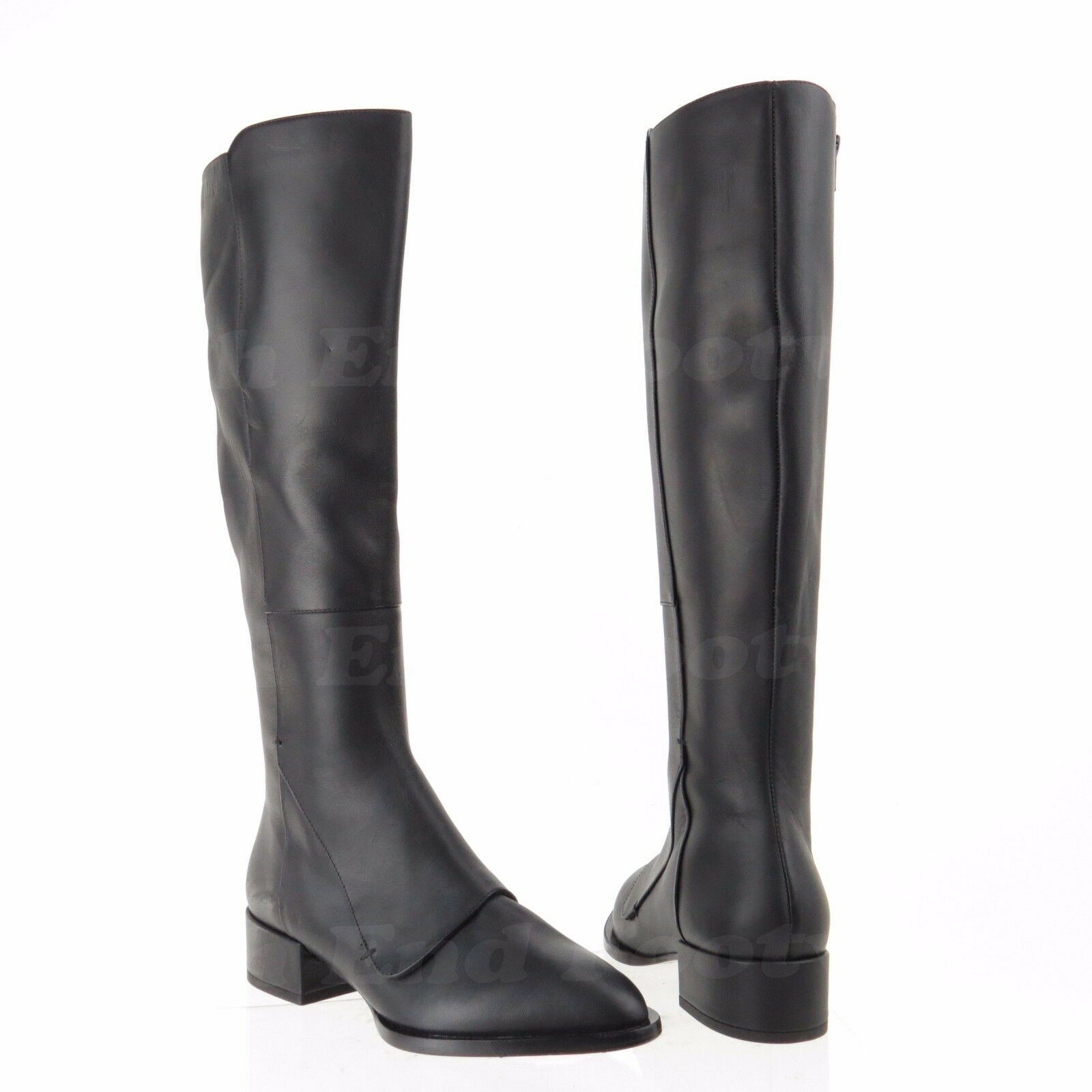Vince Yilan Women's Black Leather Pointed Toe Knee High Boots Sz 5.5 M NEW  695