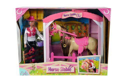 Simba Steffi Love Puppe mit Pferd und Stall Figuren Ankleide Modepuppen NEU