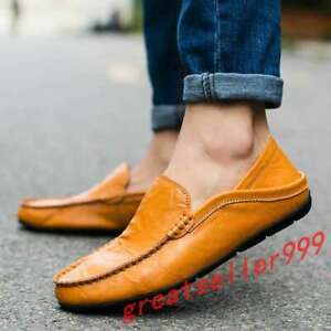 Mens-Leather-Casual-Loafers-Boats-Slip-on-Shoes-Flat-Soft-Dress-Gommino-2020