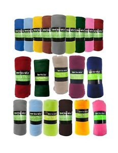 WHOLESALE-BULK-Fleece-Blankets-Throws-50-034-x-60-034-Assorted-or-Solid-Case-of-24