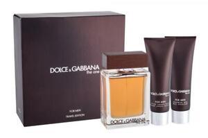 Set - Dolce & Gabbana The One 100ml Edt Spr + 50ml A/S Balm + 50ml S/G