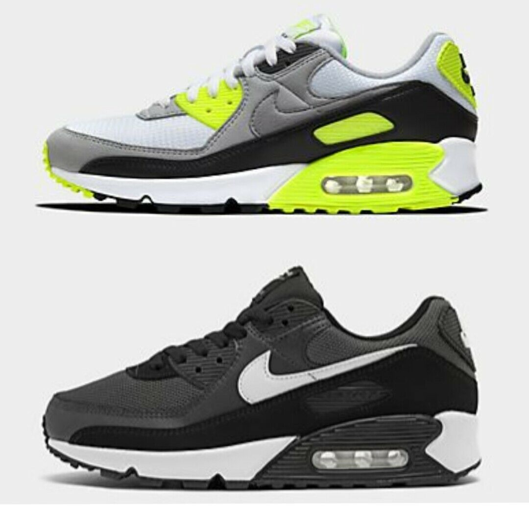 AUTHENTIC MEN'S NIKE AIR MAX 90 CASUAL SHOES WhiteParticle GreyLight Smoke Gr