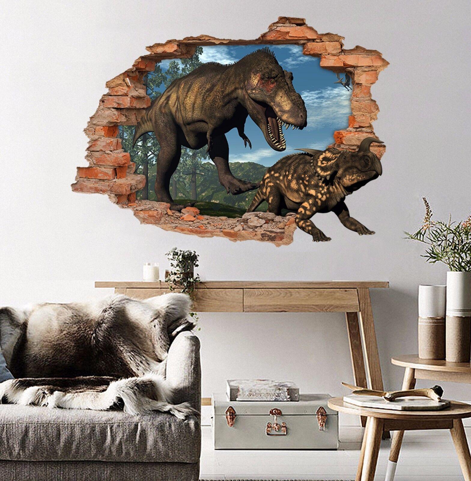 3D Dinosaurier 728 Mauer Murals Mauer Aufklebe Decal Durchbruch AJ WALL DE Kyra