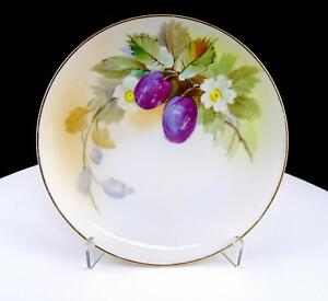 NIPPON-MORIMURA-HAND-PAINTED-PLUMS-AND-BLOOMS-6-1-4-034-SIDE-PLATE-1911-1921