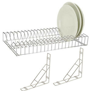 Image is loading Stainless-Steel-Plate-Rack-Holder-90cm-36-034-  sc 1 st  eBay & Stainless Steel Plate Rack Holder 90cm/36