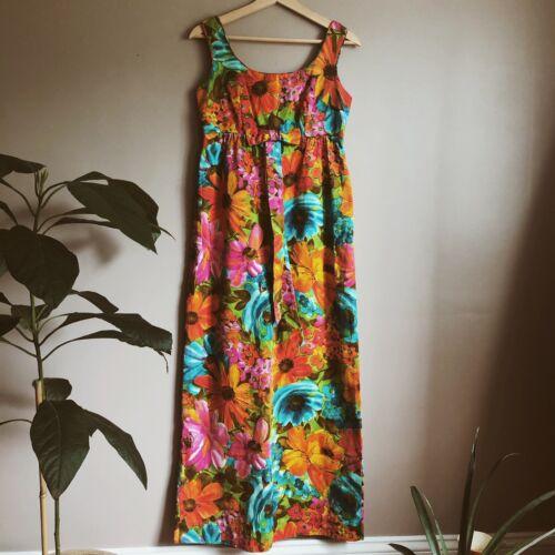 Vintage Hawaiian Maxi Dress By Tori Richard