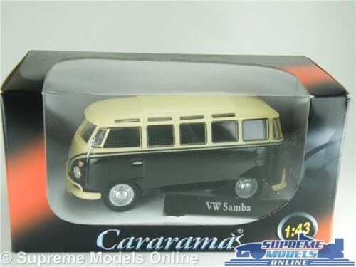 VOLKSWAGEN T1 Samba Camper Auto Van Bus VW 1:43 Taglia Nero//Crema Cararama SPLIT T