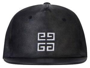 b201a3f3 Image is loading Givenchy-Paris-Leather-Signature-Logo-Baseball-Cap-Hat-