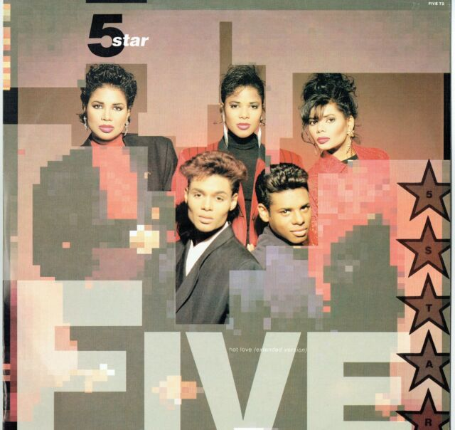 "FIVE STAR - 12"" - Hot Love (Extended) / (Full rub) UK Picture Sleeve. Epic"