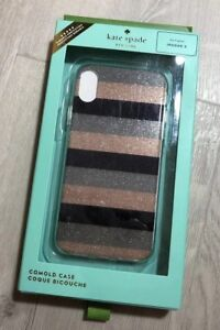 Kate-spade-new-york-Glitter-Stripe-iPhone-X-XS-Case-Cover