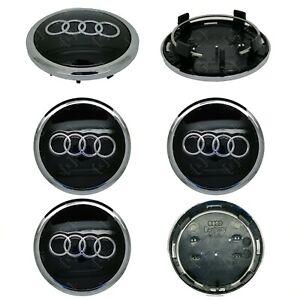 4-x-Audi-Alloy-Wheel-Centre-Caps-69mm-Black-OEM-Fit-A1-A3-A4-A5-A6-A7-Q3-Q5-Q7