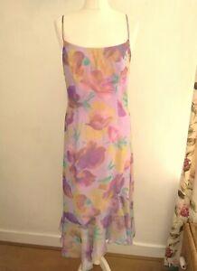 Vera Mont France Occasion Line Vintage Lilac Floral Party Dress 10 12 Eu 38 New Ebay