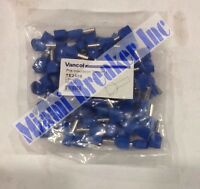 Vancol Te2508 Blue Tube Pre-insulation Terminal 100pieces