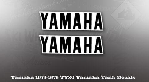 YAMAHA 1974 1975 TY80 TANK DECAL LIKE NOS OEM GRAPHICS