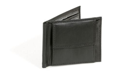 Dollar Clip Money Clip con spiccioli scomparto LEAS Vera Pelle- parentesi fittizio Nero