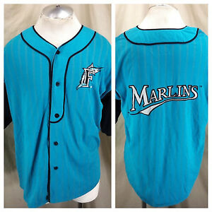 81e569f50b0 Vintage 90 s Starter Florida Marlins (Large) MLB Baseball Retro ...
